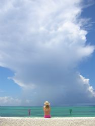 Claudia and the cloud, Compass point, Bahamas... by Leon Joubert