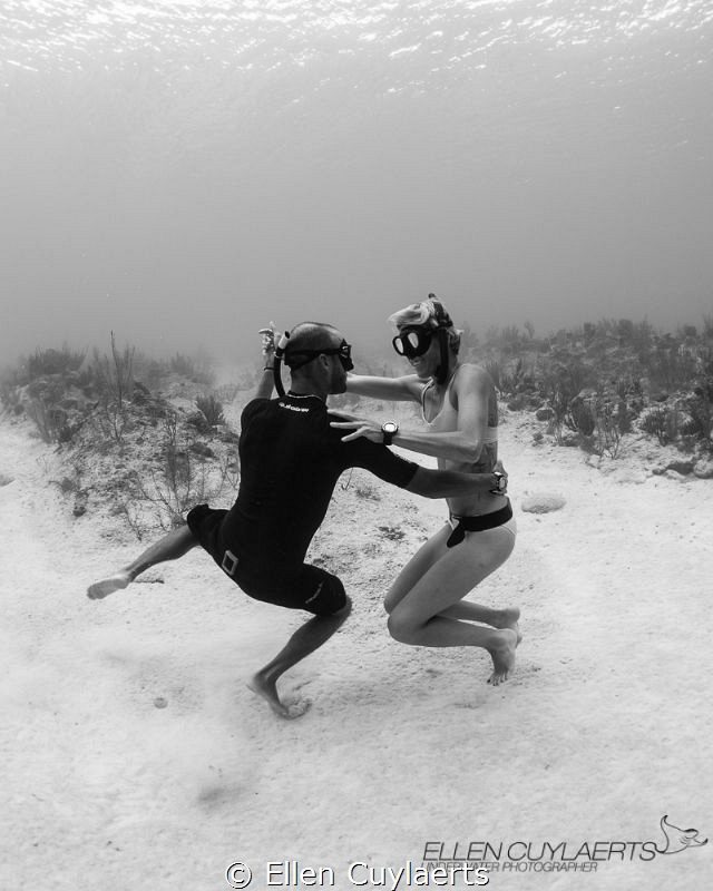 While shooting free divers Mark Tilley & Kaitlin DeBraban... by Ellen Cuylaerts