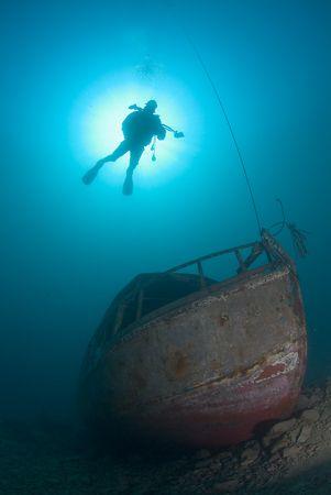 Freshwater wreck,Capernwray 10.5mm. by Derek Haslam