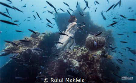 Underwater shooting on Uss. Liberty Wreck Dive, Tulamben.... by Rafal Makiela