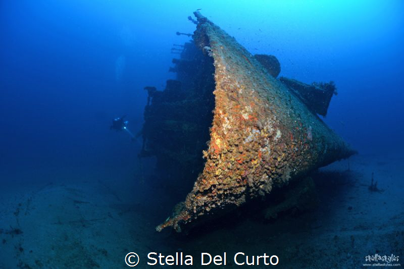 """""""Isonzo wreck"""" - Ship sunken the 10 april 1943 torpedoed ... by Stella Del Curto"""