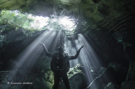 Cenote dive Mexico by Graham Watters
