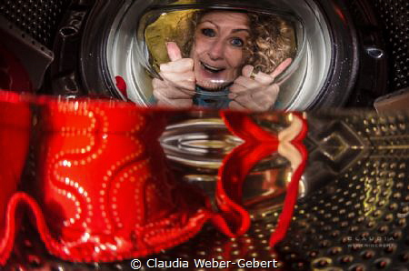 always use the gentle cycle while washing your camera gea... by Claudia Weber-Gebert