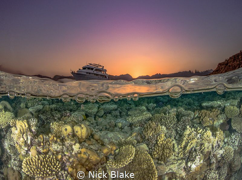 Red Sea Sunset, Sharm El Sheikh, Egypt by Nick Blake
