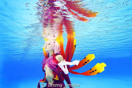 Underwater Cosplay:  Guilty Crown by Jimmy Jimjim