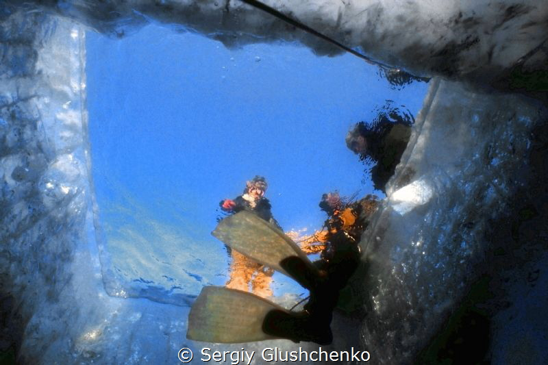 Lake Baikal, Ice diving. by Sergiy Glushchenko