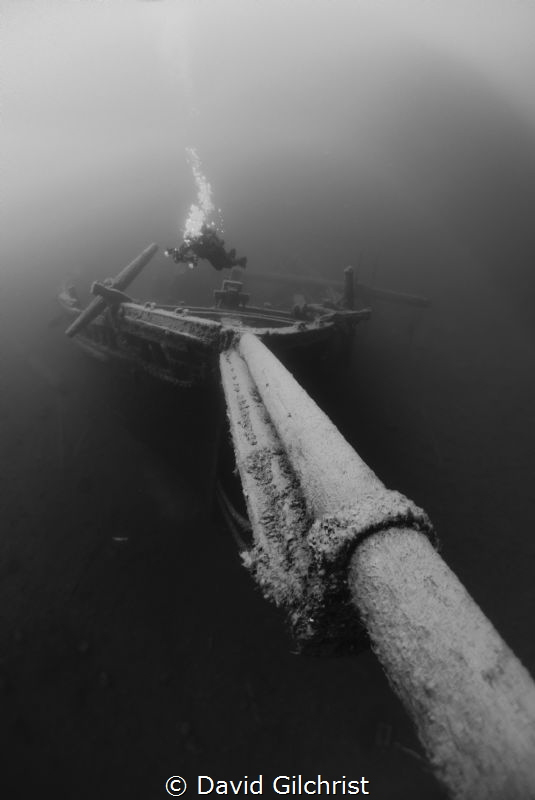 Bow of the Barque'Arabia' sunk in 1884 near Tobermory, On... by David Gilchrist