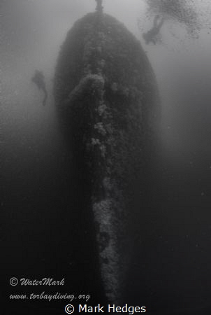Taken from the sea bed of the hms scylla, visibility is o... by Mark Hedges