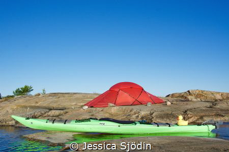 A kayak and tentweekend of my own! by Jessica Sjödin