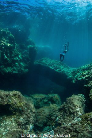 "freediving at ""El Taccoron"" by Claudia Weber-Gebert"