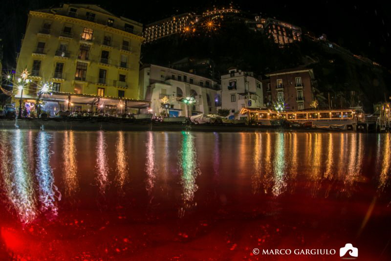 Marina Grande of Sorrento, split shot with a tripod and a... by Marco Gargiulo