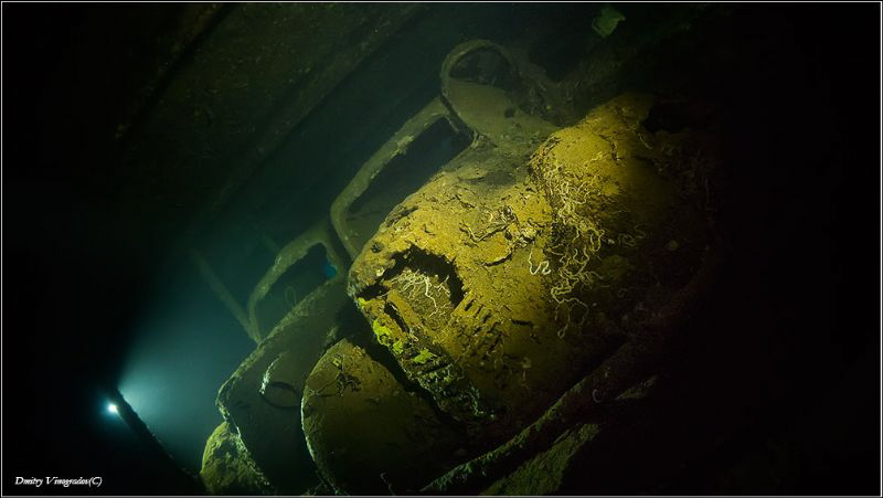 Umbria. Inside the wreck. by Dmitry Vinogradov