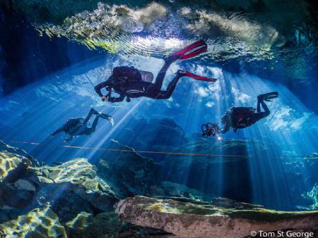 The amazing light shows at Cenote Kukulkan by Tom St George