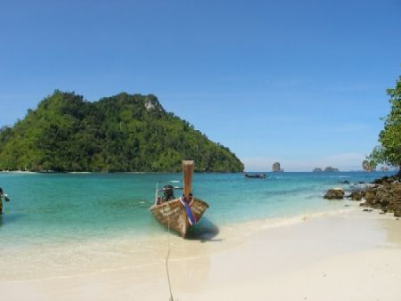 A heavenly beach on an island close to Ao Nang, Thailand by Gordana Zdjelar