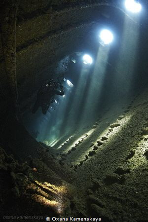 SS Umbria, inside. by Oxana Kamenskaya
