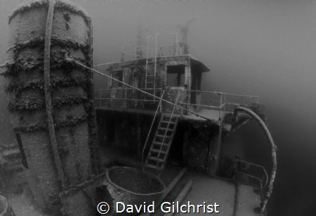 A view of the Niagara II, sunk near Fathom Five National ... by David Gilchrist