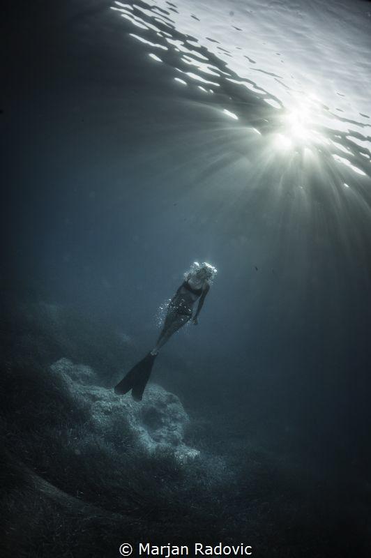 Freediving at Cres by Marjan Radovic