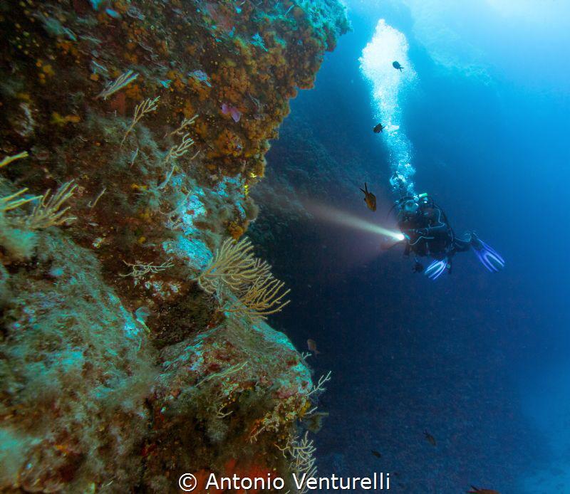 Ustica Island by Antonio Venturelli