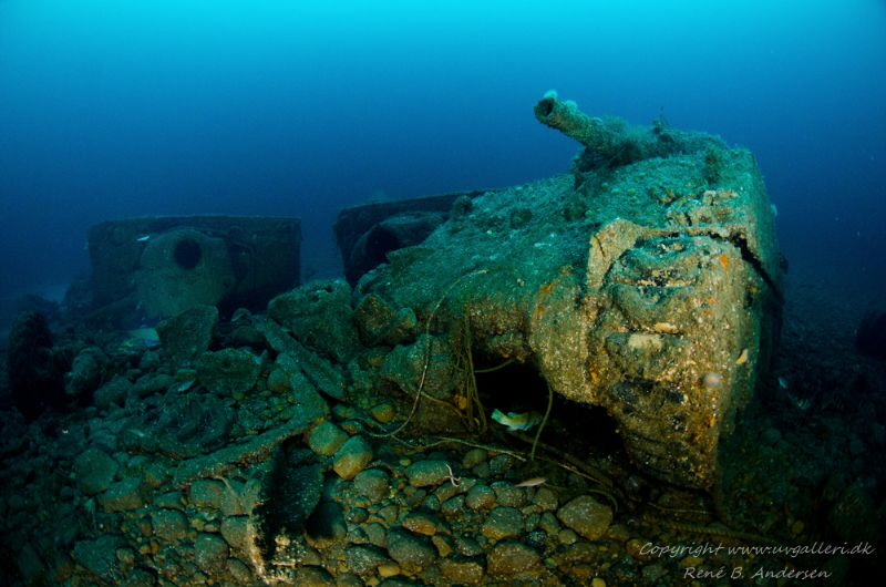 SS Empire Heritage WW2 Wreck, depht is 63meter. by Rene B. Andersen