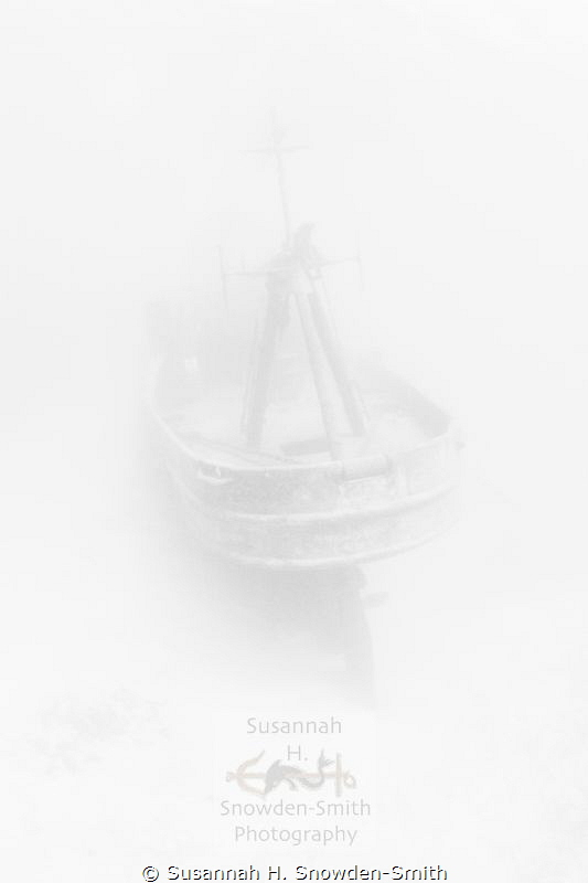 """""""Ghost Ship"""" - The ex-USS Kittiwake appears as if from a ... by Susannah H. Snowden-Smith"""