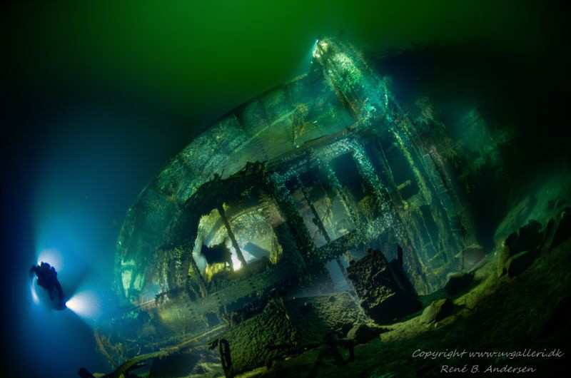 Oldenburg WW2 wreck, but was a german Raider ship in WW1 ... by Rene B. Andersen