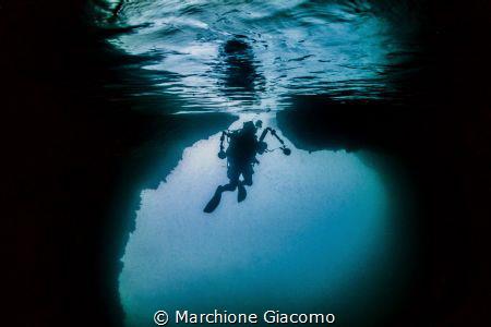 The  green cave . Raja ampat  No strobo by Marchione Giacomo