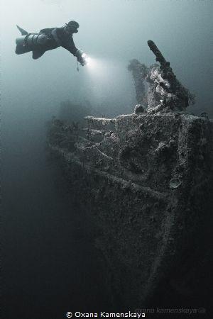 SS Rosalie Moller, North Red sea. Ship's bow.  by Oxana Kamenskaya