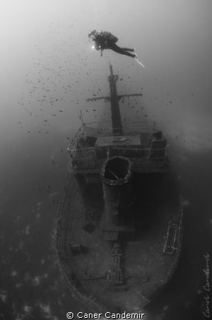 Shipwreck in Bodrum, Turkey by Caner Candemir