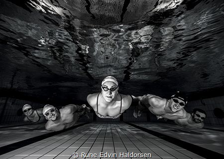 A team of lifesavers on a training day by Rune Edvin Haldorsen