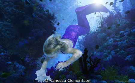 The sea, once it casts its spell, holds one it is net of ... by Vanessa Clementson