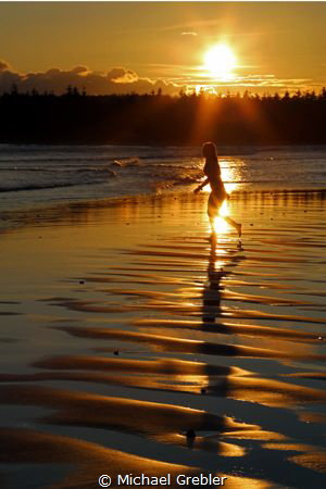 Sunset on a Nova Scotia beach. Canon 6d with 24-105 lens ... by Michael Grebler