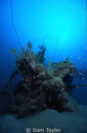 Japanese mini-sub lying parallel to the Taisho Maru Wreck... by Sam Taylor