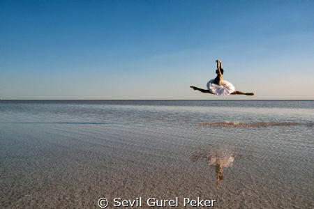 Salt Lake in turkey by Sevil Gurel Peker