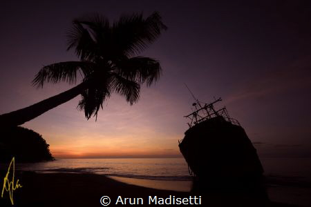 Post Maria sunset by Arun Madisetti