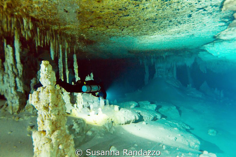awesome majesty of underwater cave environment by Susanna Randazzo