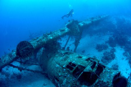 This Catalina Wreck ex WW II, is located in Biak, Papua -... by Iman Brotoseno