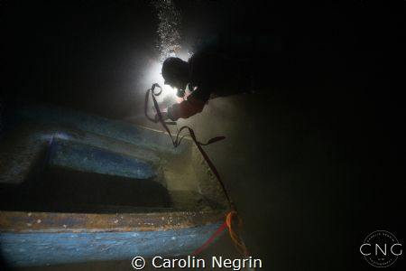 Working Underwater can be beautiful as well. Vouliagmeni ... by Carolin Negrin