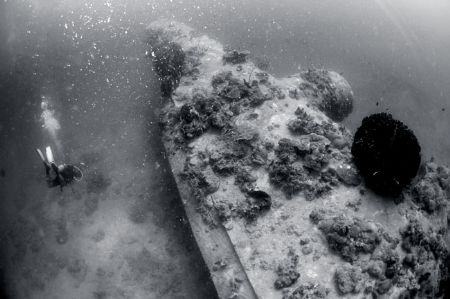 still from the B 24 wreck ex WW II, i pick this picture t... by Iman Brotoseno