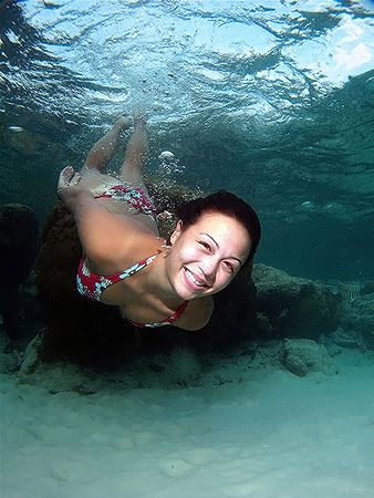 Underwater Babe! Taken In Redang, Malaysia! by Ed Eng