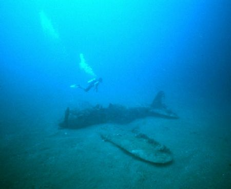 'RABAUL ZERO' Almost fully intact Zero in Simpson Bay, Ra... by Rick Tegeler