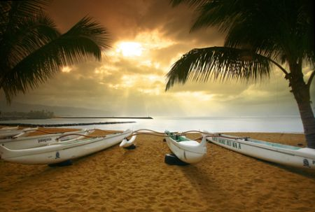 """""""Sunsets Over Haleiwa"""" Photo taken on Oahu's North Shore. by Mathew Cook"""