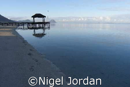 The start of another perfect day in Mauritius by Nigel Jordan