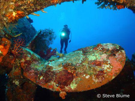 Prop Der Yang, Sony W200 Wreck of the Der Yang in Kavieng... by Steve Blume