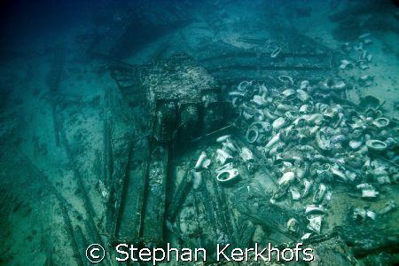 All what is left of the yolanda wreck on Yolanda reef Ras... by Stephan Kerkhofs