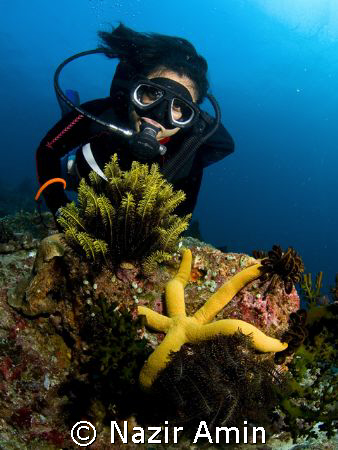 my dive buddy by Nazir Amin
