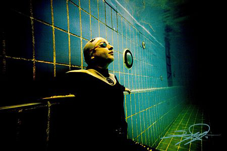"""Underwater """"underground"""" finswimmer by Nicholas Samaras"""