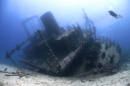 The Giannis D, Sha'ab Abu Nuhas Reef, Red Sea, Egypt. by Jim Garland