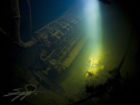"The engine of ship wreck ""Kali Tixi"" (""good luck"" the mea... by Nicholas Samaras"