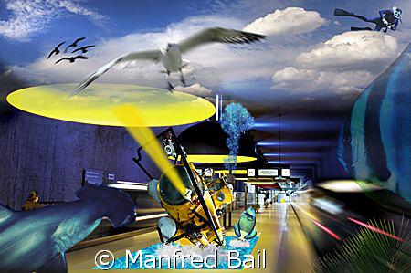 subwaystation in munich by Manfred Bail