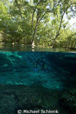 Scuba training @ Ginnie Springs Freshwater diving in the... by Michael Schlenk